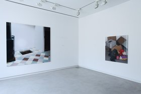 (left): Thomas Demand, Hole, 2013, colour photograph. Courtesy of Matthew Marks Gallery, Sprüth Magers, Berlin/London, and Esther Shipper, Berlin. Commissioned by Sharjah Art Foundation . Image courtesy of Sharjah Art Foundation. (right) Thomas Demand, Parcel, 2011, colour photograph, c-print/diasec. Courtesy of Esther Schipper, Berlin. Image courtesy of Sharjah Art Foundation.