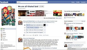 'We are all Khaled Said' English Facebook Page