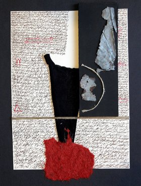 Adonis, Untitled, 1993, mixed media collage. Courtesy of the artist and The Mosaic Rooms, London.