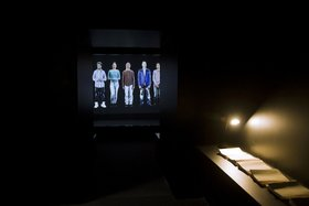 Joana Hadjithomas and Khalil Joreige, A Letter Can Always Reach its Destination, 2012, video installation, installation view, Art Dubai, 2012. Courtesy of the artists and Abraaj Capital Art Prize.