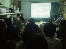 View of Shabbir Hussein Mustafa's talk and screening at Para/Site Art Space, 27th March 2013. Image courtesy of Para/Site.