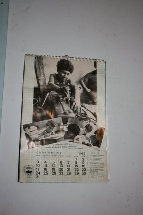 Armenian Red Cross Calendar from October 1982.