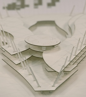 AMBS Architects, Baghdad Library, 2014, process model for the interior.
