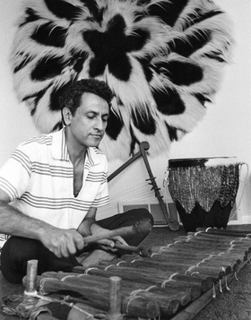 Halim El Dabh and a balafon.