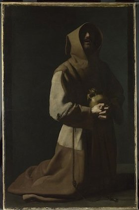 Francisco de Zurbarán (1598–1664), Saint Francis in Meditation, 1635–39. Courtesy and © The National Gallery, London.