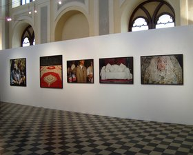 Ymane Fakhir (from left to right) Naissance de Badr, 2005. Fête du trône, 2009. Passage, 2003. Podium, 2003. Printout. Dentelle, 2003. Printout.