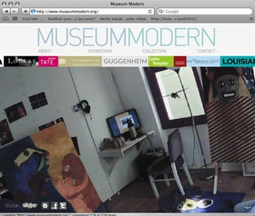 Elif Öner, www.museummodern.org, 2010. Domain address, Flash, Webcam Server, IP Camera. Jpeg, Mjpeg.
