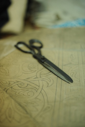 Scissors and pattern of the Egyptian Tentmakers.