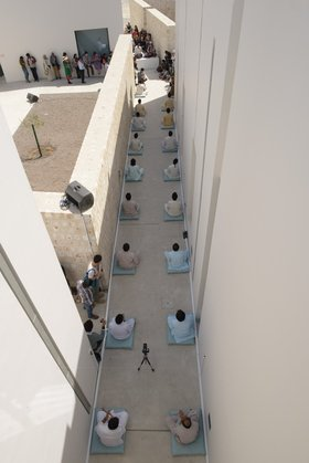 Wael Shawky, Dictums 10:120, 2013, Sharjah Biennial 11 performance.  Image courtesy of Sharjah Art Foundation.
