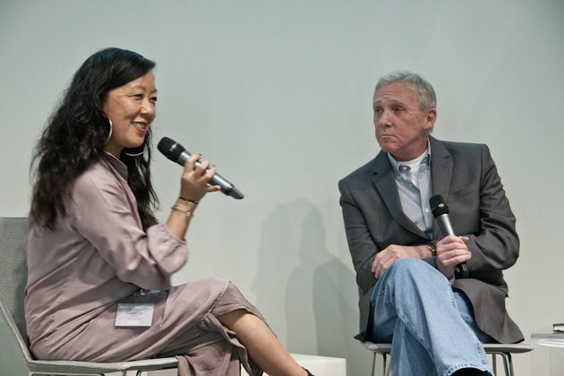 Eungie Joo and William Wells, Sharjah Art Foundation's March Meeting, 17 - 19 March 2012. Courtesy of Sharjah Art Foundation.