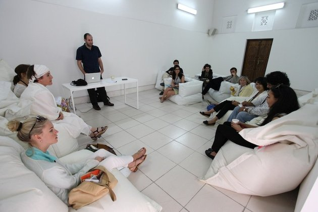 Breakout session with Joe Namy, Sharjah Art Foundation's March Meeting, 17 - 19 March 2012. Courtesy of Sharjah Art Foundation.