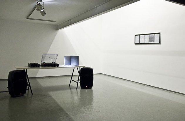 Aslı Çavuşoğlu, 191/205, 2009, printed on 12'' LP with an edition of 100 signed copies, 7' 16'' + framed officialdocuments, 38x122cm. Courtesy of the artist.