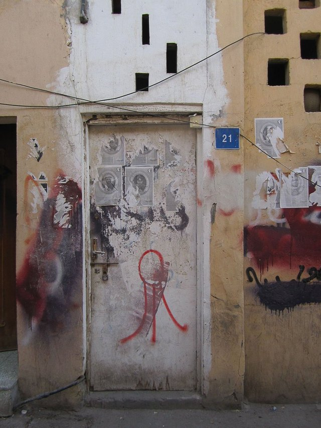 Lulu appears on the walls of Bahrain. Photograph by Amal Khalaf.