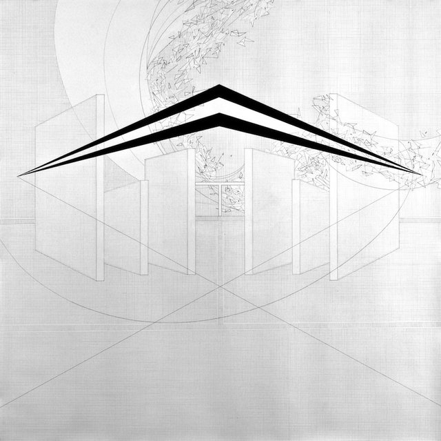 Seher Shah, Untitled (walls), 2010, graphite and gouache on paper, 183 x 183 cm, 2010. Courtesy of the artist.
