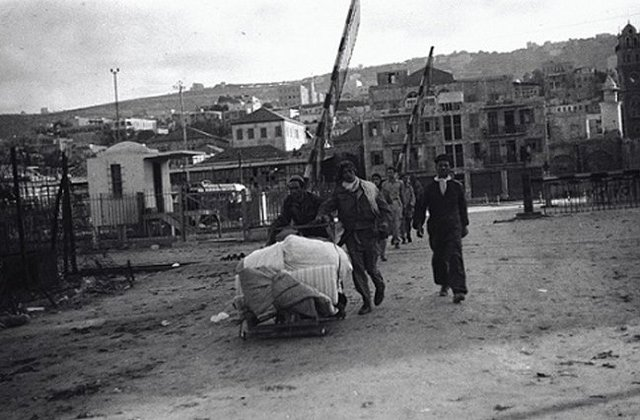 Fred Chasnick, Haifa, Looting, April 1948