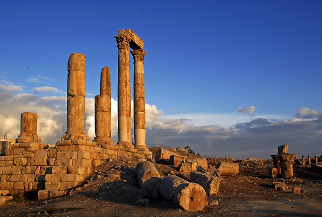 Temple of Hercules on the Citadel hill in Amman.