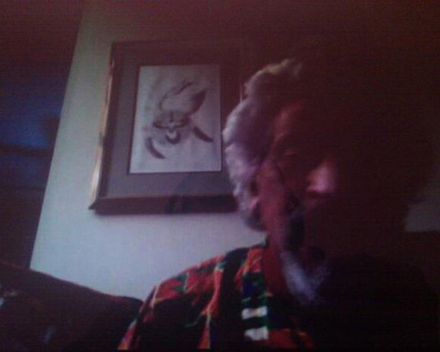 Joe Namy, screen shot of skype chat with Halim El Dabh for the (a(version)s) project, 2012.