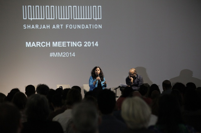 Keynote #2: Christine Tohme in conversation with Ahmad Ghossein, March Meeting 2014, Sharjah Art Foundation Art Spaces.