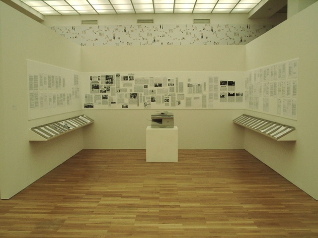 Parastou Forouhar, Documentation, 1998, installation view, Hamburger Bahnhof, 2003.