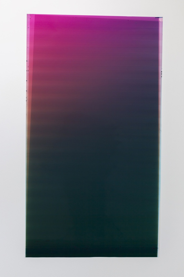 Caline Aoun, Untitled, 2013, unique inkjet print on Permajet transfer film, 610 x 1170 mm.