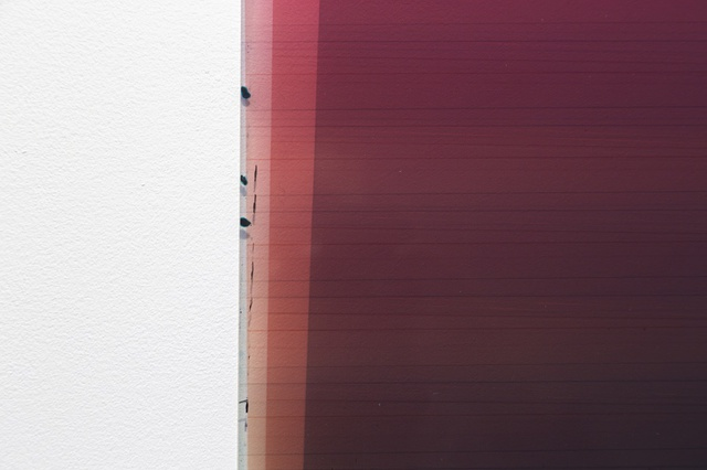 Caline Aoun, Untitled, 2013, unique inkjet print on Permajet transfer film, 610 x 1170 mm (detail).
