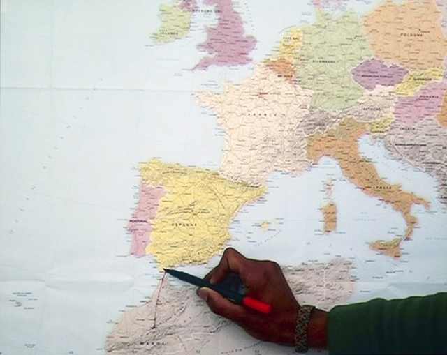 "Bouchra Khalili, Mapping Journey #7, from ""The Mapping Journey Project,"" 2008–11 (still). Video, color, sound; 6 min."