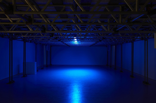Cevdet Erek, Day (2012), LED panel, scale: 1 LED bulb = 1 minute. Spike Island.