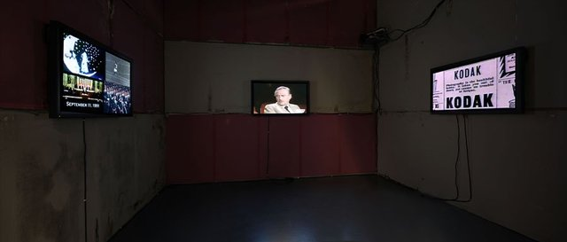 Lara Baladi, Alone...Together, In Media res, 2012, installation view in the Cairo Open City exhibition. Fotomuseum, Braunschweig, Germany. Courtesy of the artist.