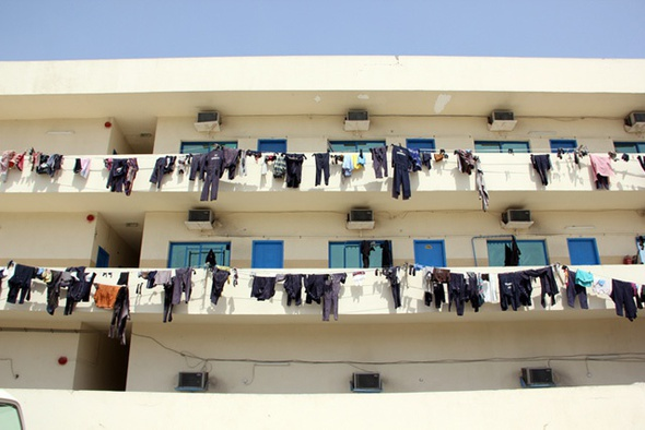 <p>Gorica labour camp: clothes hung out to dry.</p><p>Copyright Guy Mannes-Abbott.</p>