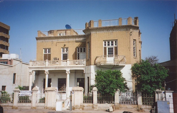 "<p style=""text-align: justify;"">Dar Dijla al-Funun, a house built in 1932 and transformed into an art gallery, on Abu Nawas avenue at the intersection with Abu Qalam Street, in 2005.</p><p style=""text-align: justify;"">Courtesy Caecilia Pieri, September 2005.</p>"