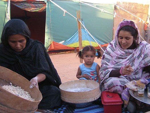 <p>Robin Kahn's 2009 project at ARTifariti</p><p>Majeyar making couscous from Scratch</p><p>Tindouf Camps, Algeria</p><p>Image courtesy of the artist</p>