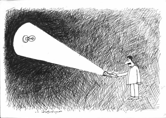 <p>Abdul Raheem Yassir</p><p><em>Miscellaneous cartoons</em>, 2003 - 2013</p><p>Ink on paper</p><p>Each 21 x 29.7 cm</p><p>Courtesy of the artist and RUYA Foundation</p>