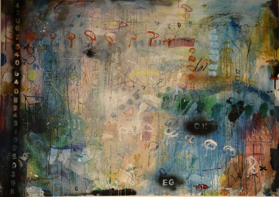 <p>Kadhim Nwir</p><p><em>Untitled</em>, 2011</p><p>Acrylic and mixed media on canvas</p><p>120 x 150 cm</p><p>Courtesy of the artist and RUYA Foundation</p>