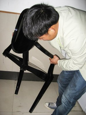 <p>Jeremy Hutchison</p><p><em>err (production shot of an incorrectly manufactured object, designed by factory worker Lee Ming at China ShowOwn, Shenzhen, China)</em>, 2012</p><p>Dimensions variable</p><p>Unique</p><p>Image courtesy Ella at China ShowOwn</p>&nbsp;