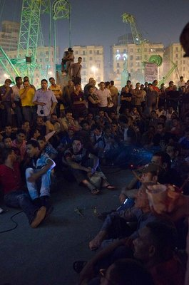 <p><em>Tahrir Cinema</em> </p><p>Tahrir Square, Cairo, July sit-in, 2011</p><p>Photographs posted on <em>Tahrir Cinema</em> Facebook page by the audience</p>