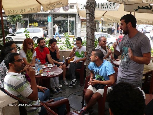 <p>Home Workspace Program participants at their landing seminar, September 2011</p><p>Courtesy of Home Workspace, Beirut</p>