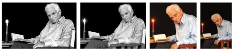 'Jacques Derrida' taken by Joel Robine on Derrida's emblematic white chair.