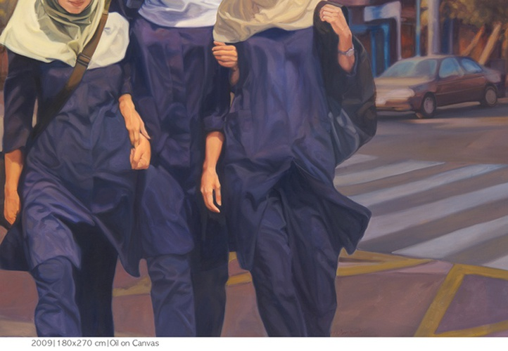 Shohreh Mehran, from Schoolgirls series, 2009. Oil on canvas.