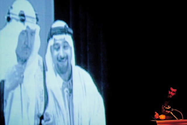 The Speaker's Progress, 2011. Written and Directed by Sulayman Al Bassam, SABAB Theatre.