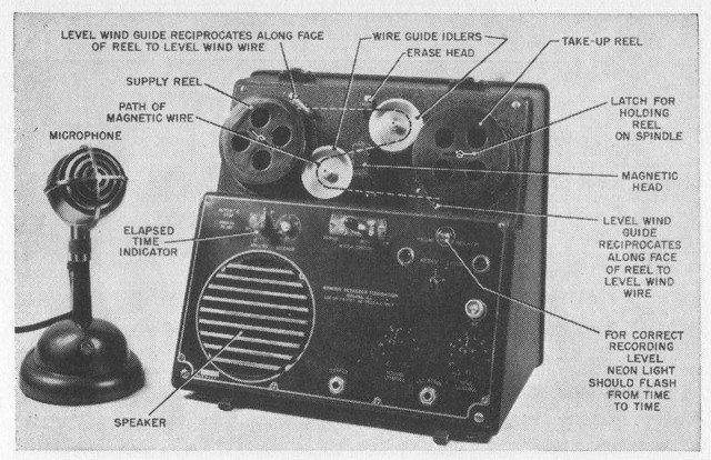 A Wire Recorder, Armour Research Foundation (Model 50).