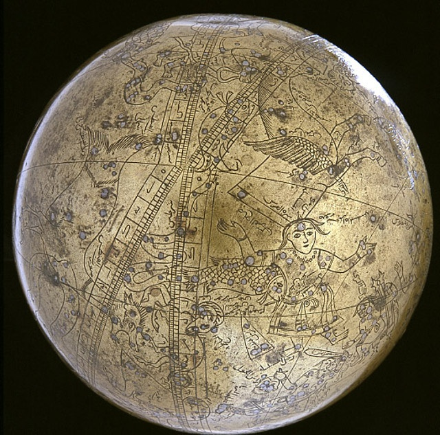 Seamless celestial globe of Muhammad Salih Tahtawi, 1630, by Smithsonian Institution.