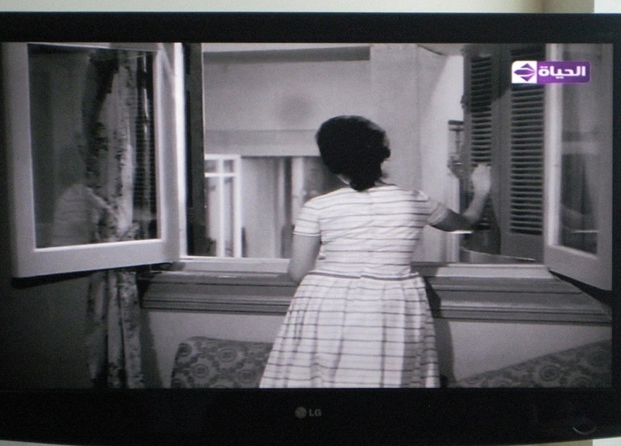 Ressala Min Emraa Majhoula (Letter from an Unknown Woman), movie still on television.