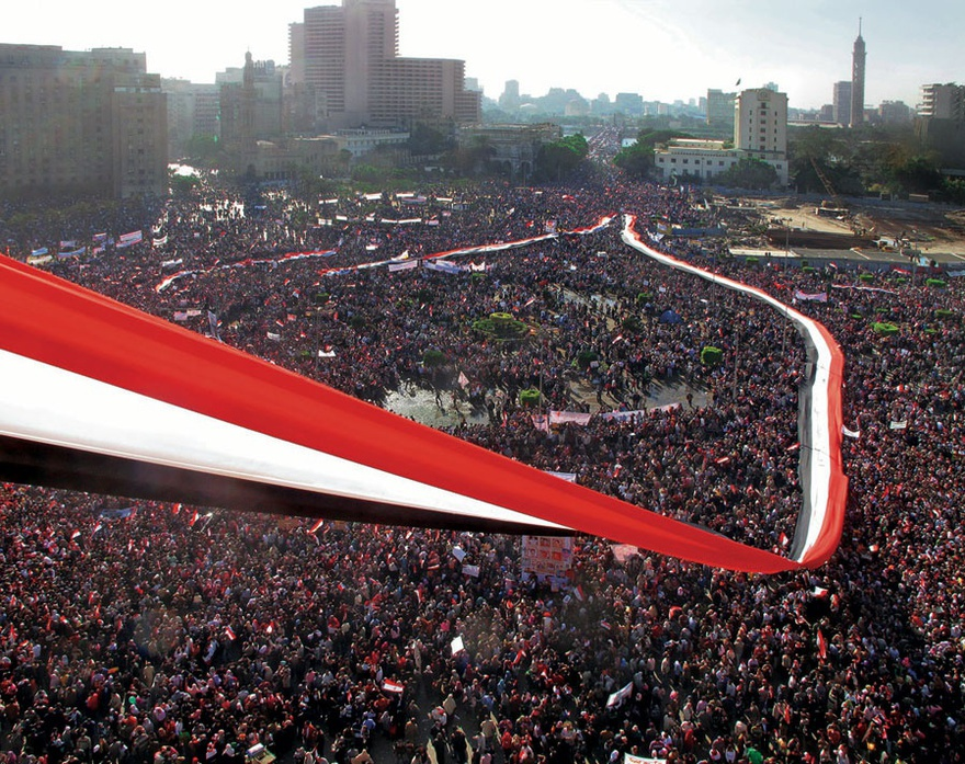 Friday of Victory, Tahrir Square, Cairo, Egypt, February 2011.