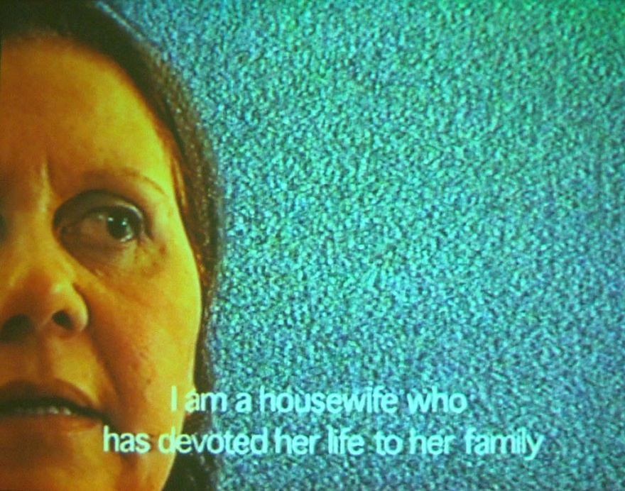 Sherif El-Azma, Interview with a Housewife, 2001. Video still.