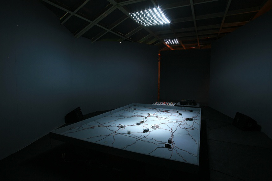 Magdi Mostafa, Sound Cells: Analog Orchestra, sound installation, 2009.