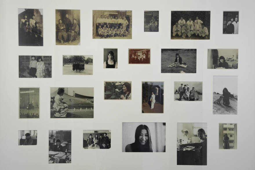 Eric Baudelaire, Fusako Shigenobu Family Album, 2012. 27 photographs circa 1900 to 1973, museum board and wood frame, 103 x 153 cm.