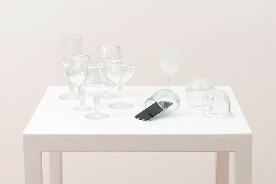 Cevdet Erek, Jingle, 2012 glass, ipod, sound.
