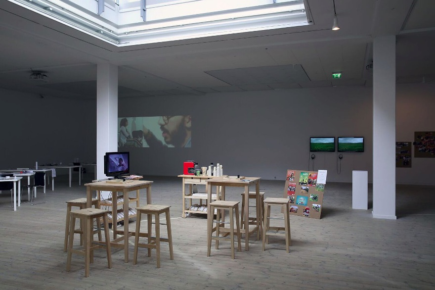 Installation view The Mobile Cafeteria / Something to Generate From – Kunsthal Aarhus