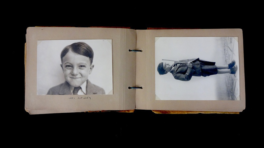 A spread from the album compiled by Kamil Chadirji, documenting major milestones of his son's childhood. The photographs show Rifat Chadirji on his fifth birthday, December 6, 1931.