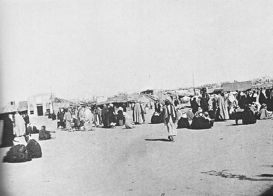 The Bedouin market in the Sahat al-Safat.